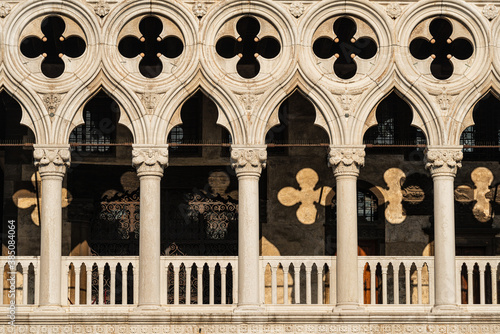 Fotografie, Obraz The Colonnade of the Doge's Palace, St Mark's Square, Venice, Italy