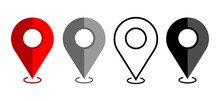 Icons Map. GPS. Vector Illustration On A White Background