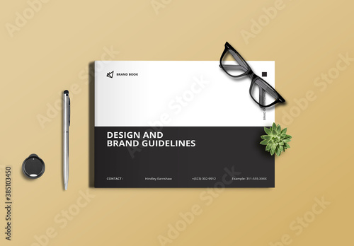 Black and White Brand Guidelines Layout