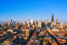Aerial View Of Chicago Illinoi...