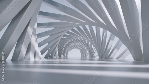3d render, abstract futuristic background Canvas Print
