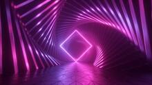 3d Rendering, Abstract Pink Ne...