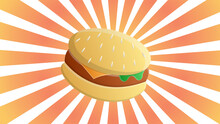 Appetizing Burger With Filling...