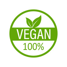 Vegan Emblem. Vegan, Great Design For Any Purposes. Logo, Symbol And Background. Eco Friendly Vector Illustration. Natural Product. Vector Icon Design.