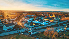 Aerial View Of An Amish Mud Sa...