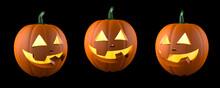 Halloween Pumpkin. Smiling Fun...