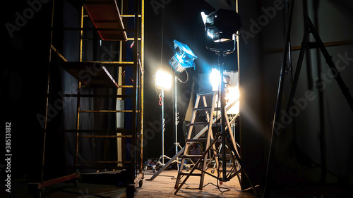 Obraz Movie set in progress - fototapety do salonu