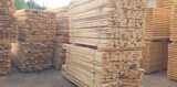 Stacks of timber - wooden planks