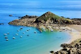 Beautiful seascape of the little harbor of Gwin Zegal in Brittany . France