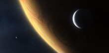 Gas Giant With Moons