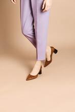 Woman In Purple Suit, Wearing ...
