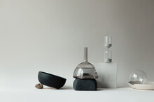 Glass Vases Mixed With Other O...