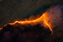 Dangerous Fire In Meadow In Co...