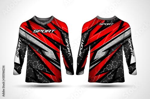 Long sleeve t-shirt sport jersey фототапет