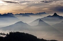 Bavarian Alps From Mt Wallenbe...