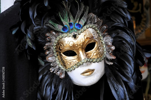 Fotografija Mask, carnevale, carnival in Venice 2010, Venice, Veneto, Italy, Europe