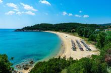 Greece, Sithonia, Umbrellas An...