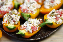 Yellow Bell Peppers Stuffed Wi...