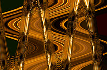 Abstraction Of Glass Crystal W...