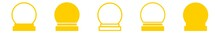 Crystal Ball Icon Yellow | Sph...