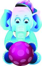 Fantasy Playful Elephant Vecto...