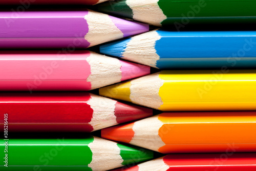 Close up of colored pencils Fototapet
