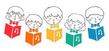 Doodle Kids Sing Choral Song Books Illustration