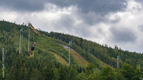 Fotomural View of decaying ski jump in Harrachov