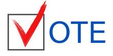 Election Vote Tick. Isolated P...
