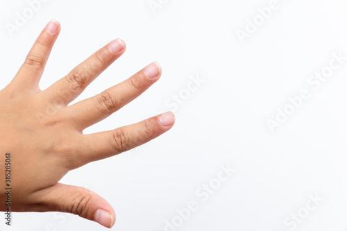 Fotografija Dirty fingernails of child hand