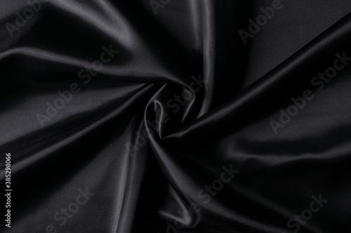 Obraz na plátně Luxurious black fabric background
