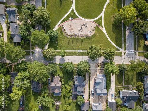 Obraz na plátně Hudson Ohio aerial photography, Hudson