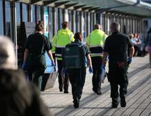 Medics And Ambulance Staff At ...