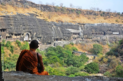 Heritage Site Ajanta Caves at Aurangabad of Maharashtra India