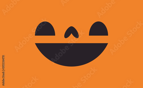 фотография Halloween pumpkin face icon