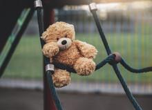 Lost Teddy Bear Toy Lying On R...