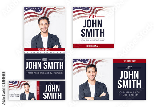 Us Elections Banner Set