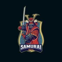 Creative Samurai Skull Mascot ...