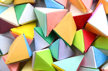Colorful Origami Objects Backg...