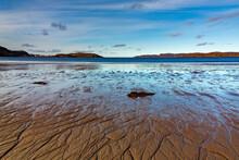Sea Bay At Low Tide. Far North, Barents Sea In Russia.