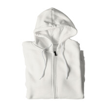 This Folded Full Zipper Mockup In White Tofu Color, Makes The Perfect Scene For To Make Your Designs Come To Life.