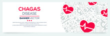 Creative (Chagas) Disease Banner Word With Icons ,Vector Illustration.