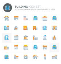 Building Vector Icon Set. Fill...