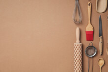 Set Of Modern Cooking Utensils...