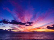 Sunrise Over Sea. Morning Seascape.