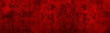 Red Black Grunge Background. Dark Red Abstract Background. Toned Metallic Rust Texture. Red Banner With Corrosion Texture. Red Grunge Wall Background.