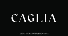 Caglia,  The Luxury And Elegant Font Glamour Style