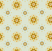 Beige Abstract Background With Orange Ornament
