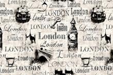 Vintage Old Newspaper Paper London Grunge Collage Background