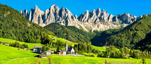 View Of Val Di Funes With The ...